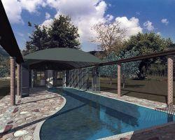 copertura invernale piscina aperta