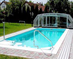 coperture scorrevoli per piscine aperta