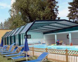 coperture telescopiche per piscine laterale